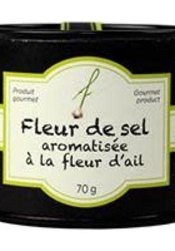 Fleur de sel aromatisée à la fleur d'ail - À Fleur de Pot - 80g