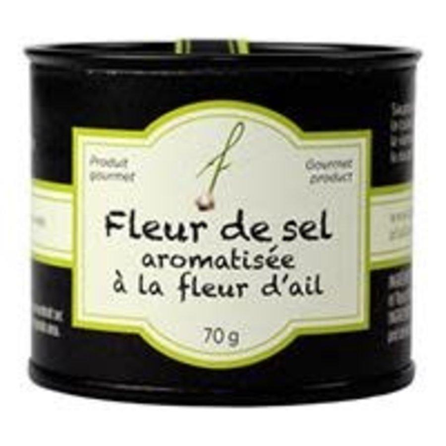 Fleur de sel aromatisée à la fleur d'ail - À Fleur de Pot - 70g