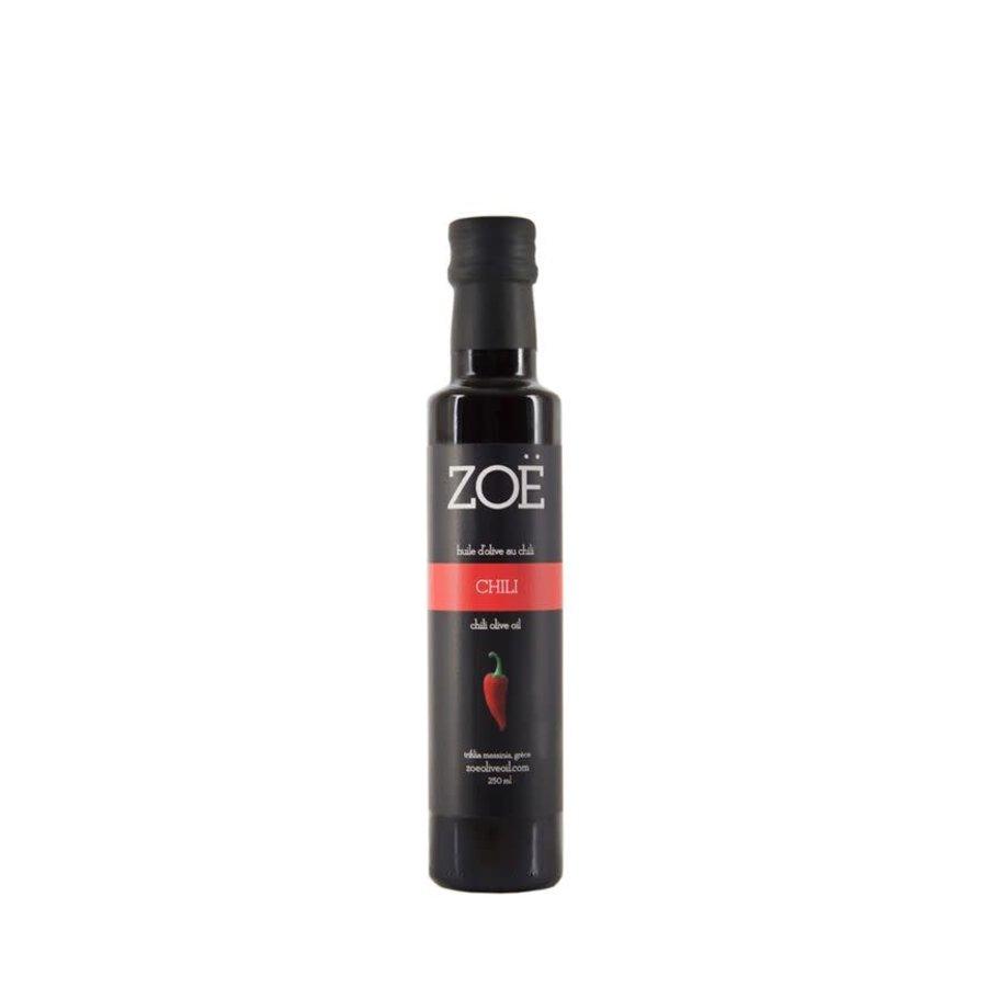 Huile d'olive infusée au chili - Zoë - 250 ml