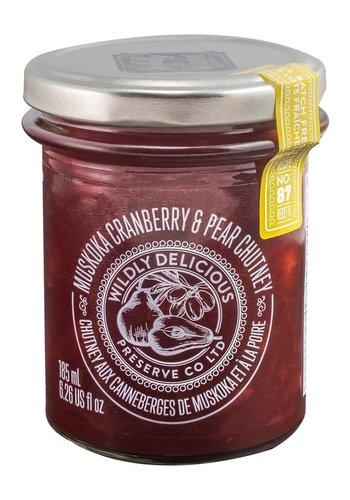 Chutney à la poire & canneberges de Muskoka - Wildly Delicious - 185 ml