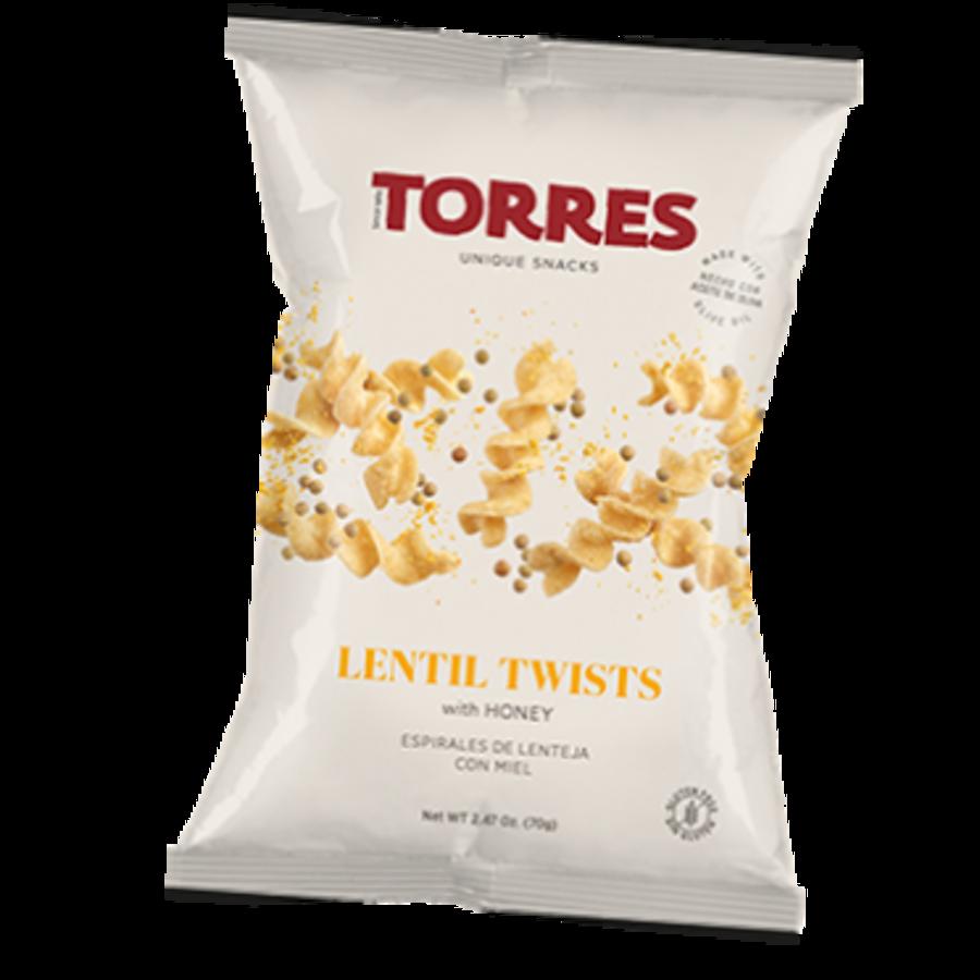 Croustilles lentille twists au miel - Torres - 90g