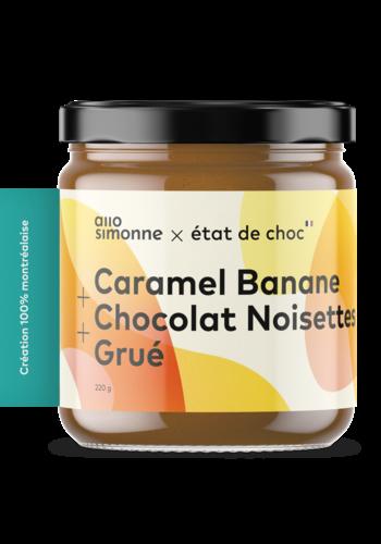 Caramel Banane, Chocolat Noisettes, Grué  - ALLO SIMONNE - 220g