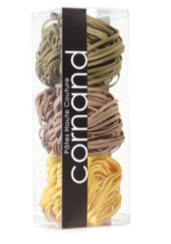 Tercio de tagliatelles laminées aux oeufs: Basilic/ olive noire / citron | Haute Couture Cornand | 380g