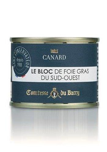 Bloc de foie gras de canard du Sud Ouest de la France  | Comtesse du Barry 210g