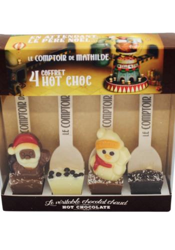 Coffret 4 Chocolat Chaud de Noël| Le Comptoir de Mathilde |  4 x 30g