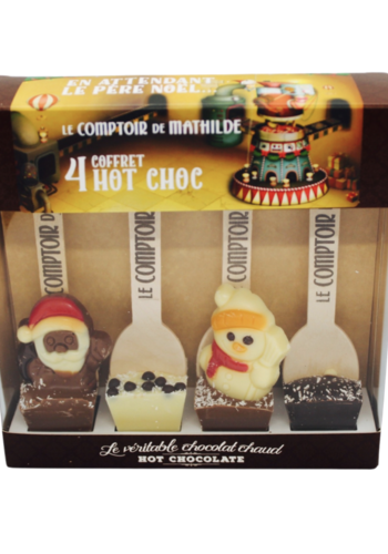 Coffret Mathilde chocolat chaud Noël 4 x 30g