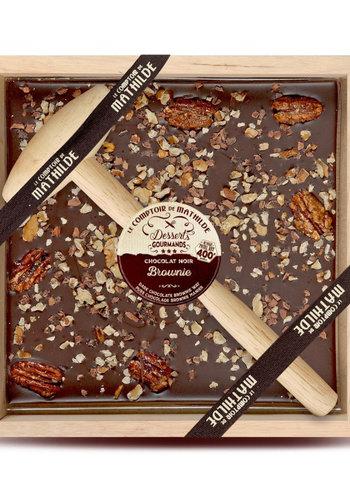 Chocolat au noir à casser | Brownies|  Le Comptoir de Mathilde | 400g