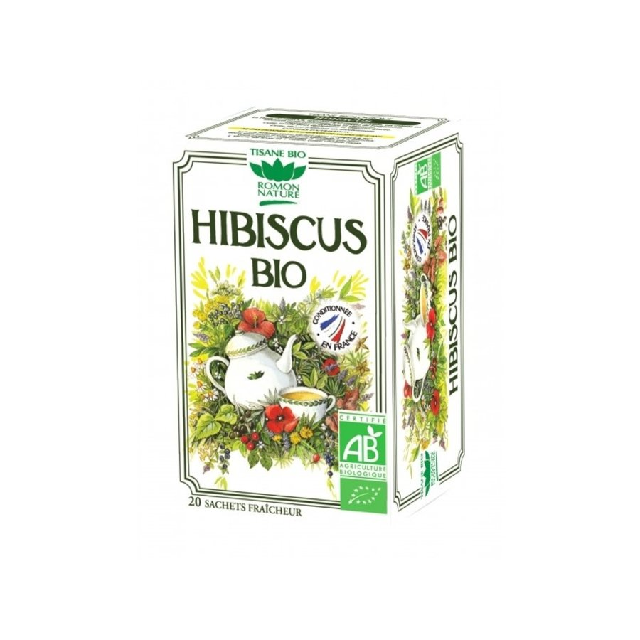 Tisane Bio Hibiscus | Romon Nature | 20 sachets