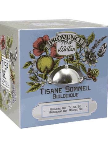 Tisane bio sommeil | Cube métal  | Provence  d'Antan | 24 sachets