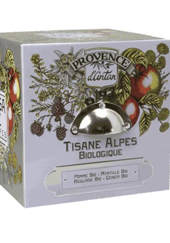 Tisane bio Alpes cube métal  | Provence  d'Antan | 24 sachets
