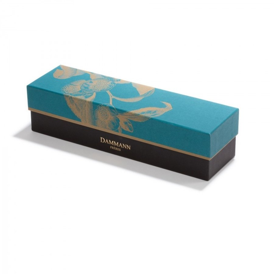 Coffret Allures Turquoise | DAMMANN Frères | 4 thés 1 infuseur (120g)