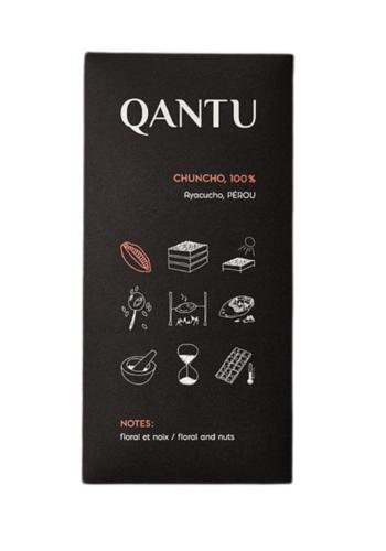 Chocolat noir 100% Chuncho | QANTU | 50g