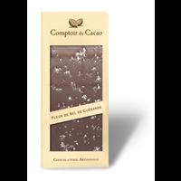 Barre gourmande noir sel de Guérande | Comptoir du Cacao | 90g