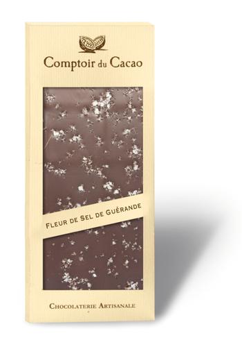 Barre gourmande Chocolat noir & Sel de Guérande | Comptoir du Cacao | 90g