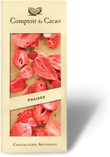 Barre gourmande Chocolat Blond & Fraise | Comptoir du Cacao | 90g
