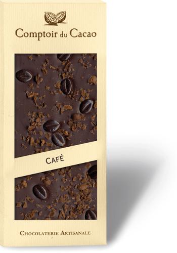 Barre gourmande Chocolat noir & Café | Comptoir du Cacao | 90g