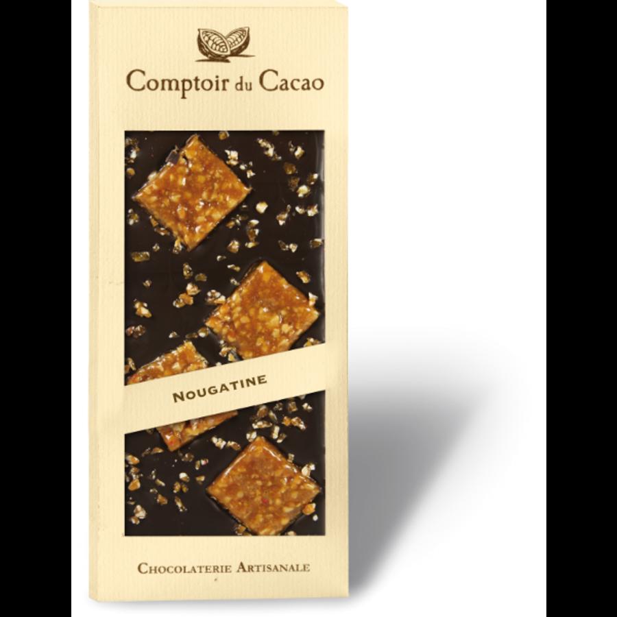 Barre gourmande noir nougatine | Comptoir du Cacao | 90g