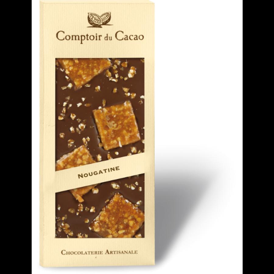 Barre gourmande lait nougatine | Comptoir du Cacao | 90g