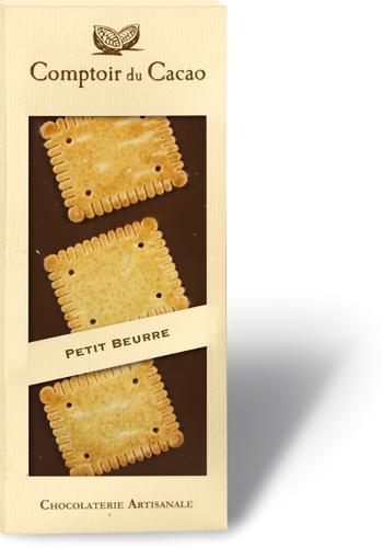 Barre gourmande noir petit beurre | Comptoir du Cacao | 90g