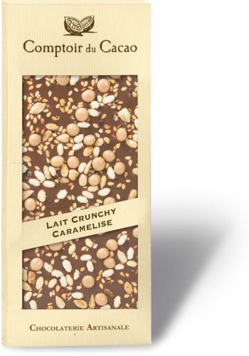 Barre gourmande Chocolat au Lait & Crunchy Caramélisé | Comptoir du Cacao | 90g