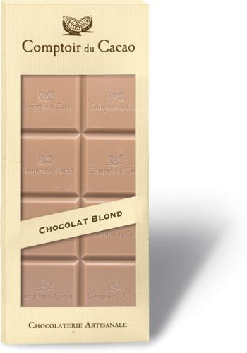Barre gourmande blond | Comptoir du Cacao | 90g