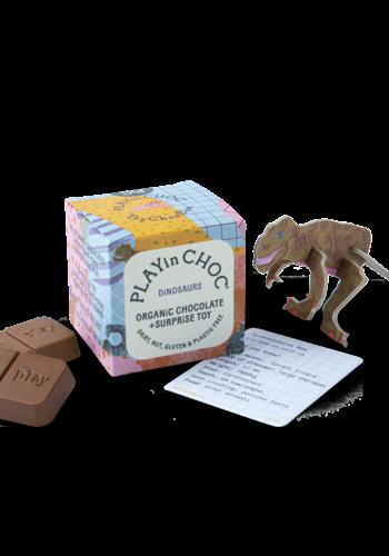Casse tête et Chocolat (Dinosaures)   Play In Choc   2 x 10g + jouet