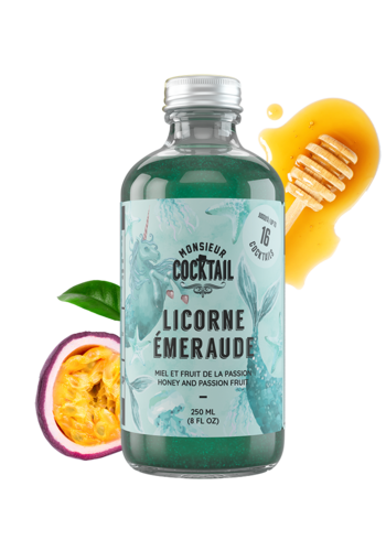 Monsieur Cocktail | Sirop de Licorne | Émeraude | 250 ml