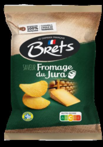 Croustilles ondulé Fromage du Jura   Brets   125g