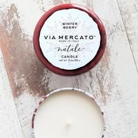 Natale Winter Berry Candle  | Via Mercato | 100g