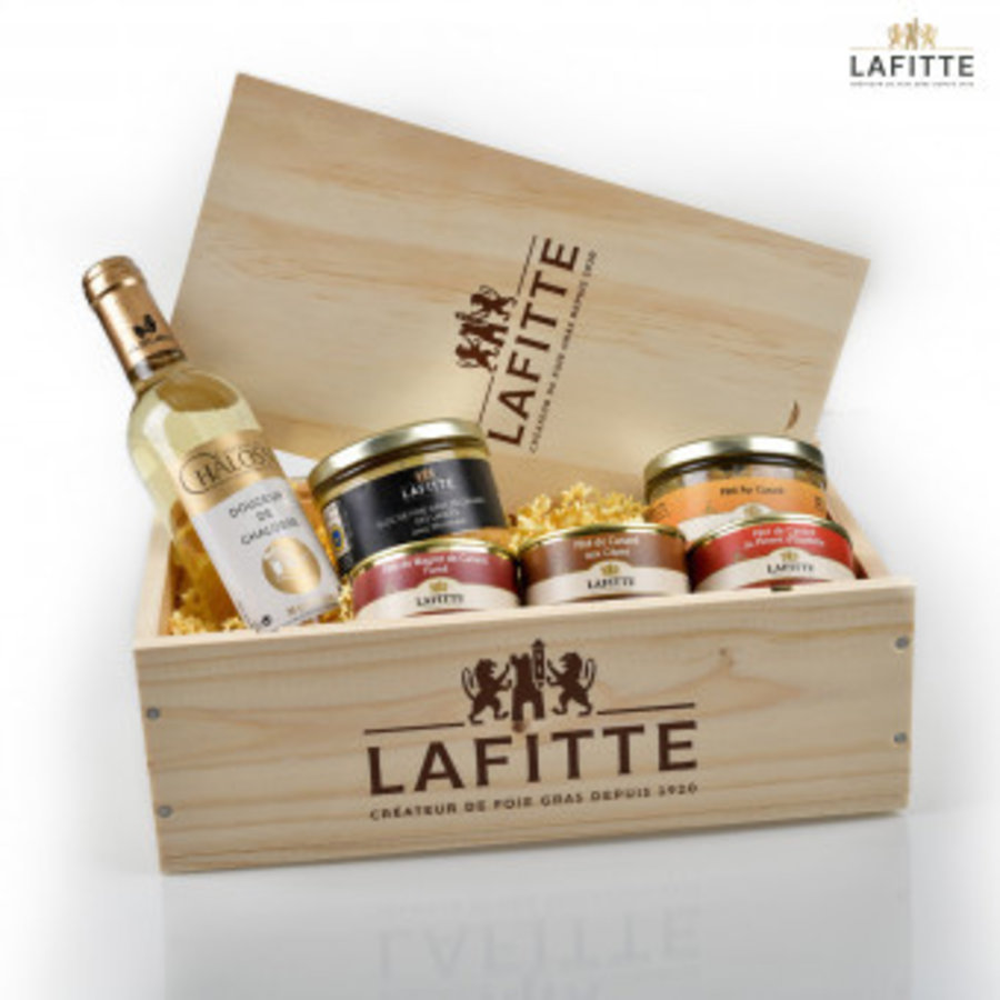 Coffret 100% canard | coffret bois | Lafitte