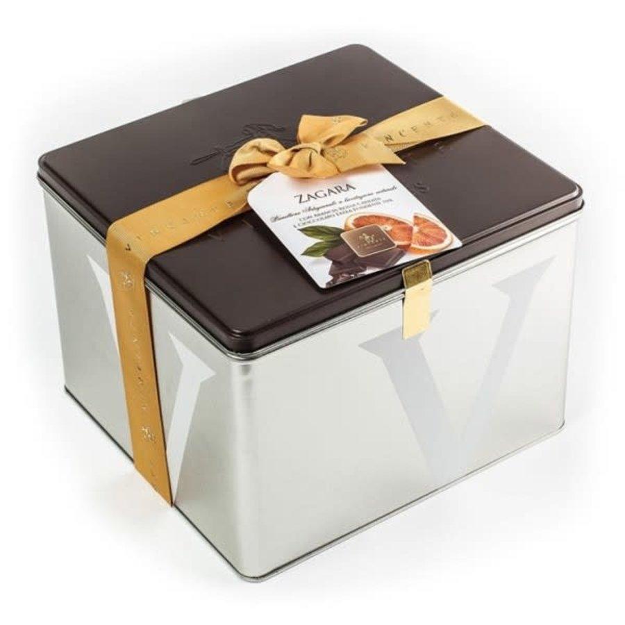 Panettone enrobe choco noir et orange sanguine | Zagara |Vincente1kg
