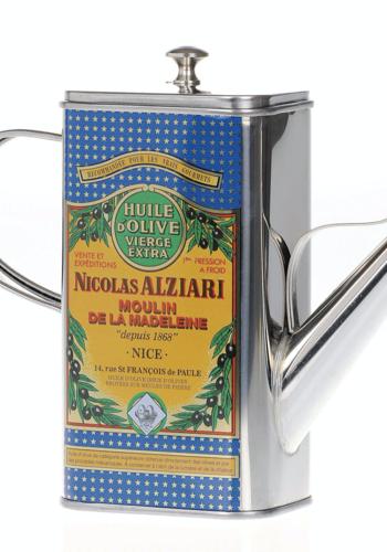 Huilier métallique   Nicolas Alziari   Capacité de 500 ml