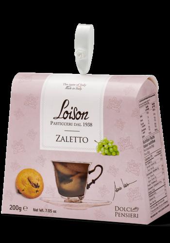 Biscuit à la fine farine de maïs jaune et raisins secs | Zaletto |190g |Loison Pasticceri Dal 1938