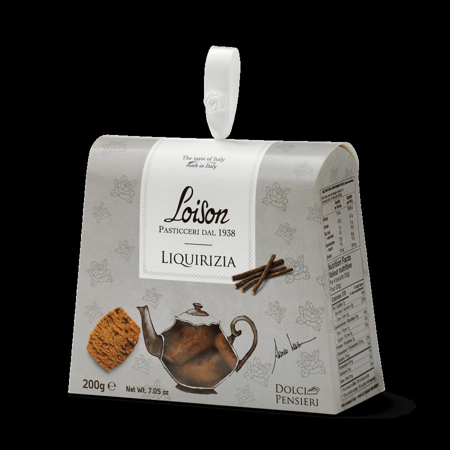 Biscuit Liquirizia (réglisse) | Loison Pasticceri Dal 1938 | 190g
