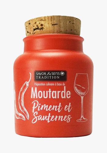 Moutarde au piment et Sauterne  | Savor & Sens | 110g