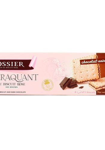 Le craquant au biscuit rose de reims  chocolat noir 54%  | Fossier| 170g