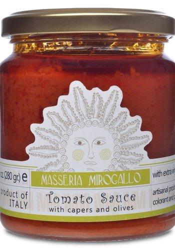 Sauce tomate Câpres et Olives | Masseria Mirogallo | 280 gr