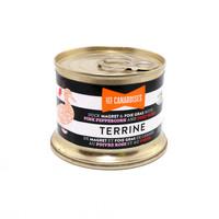 Terrine de magret et foie gras de canard au poivre rose et au porto 130g