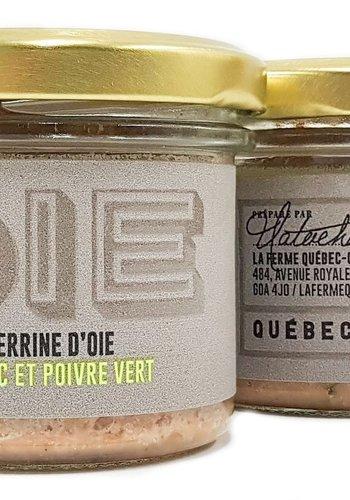 Terrine d'oie Cognac et poivre vert | La Ferme Québec-Oies | 90g