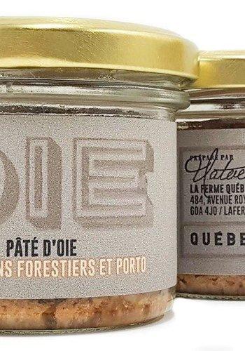 Pate d'oie champignons forestiers et porto | La Ferme Québec-Oies | 80g