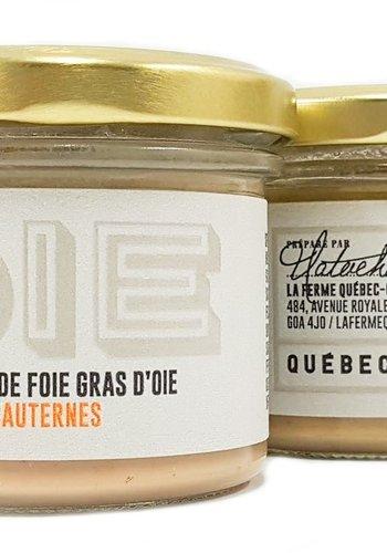Mousse de foie gras d'oie Sauternes | La Ferme Québec-Oies | 90g