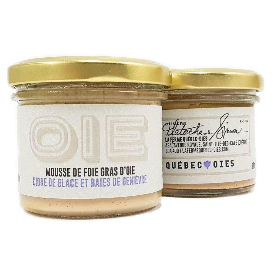 Mousse de foie gras d'oie cidre de glace et baie de genievre| La Ferme Québec-Oies | 90g