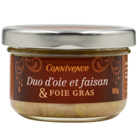Duo oie  et faisan et foie gras