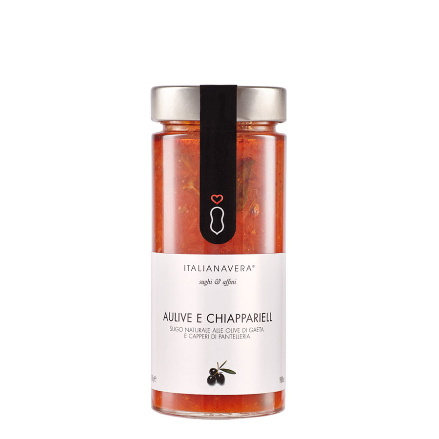 Sauce au tomate avec olives et câpres | Italianavera | 580g