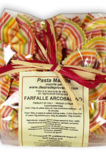 Pâtes Farfalle Arc en ciel   Pasta Marella   250g