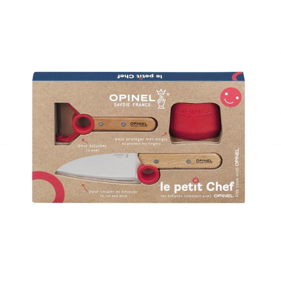 Coffret le petit chef (Couteau, Protege doigts & epulcheur) | Opinel Savoie France