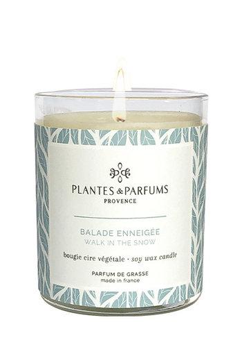 Bougie végétale parfumée  | Balade enneigée |Plantes & Parfums Provence | 180g