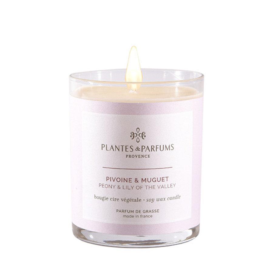 Bougie végétale parfumée | Pivoine & Muguet | Plantes & Parfums Provence | 180g