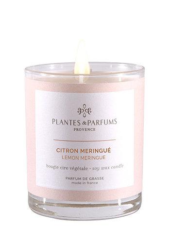 Bougie végétale parfumée  | Citron Meringué|Plantes & Parfums Provence | 180g