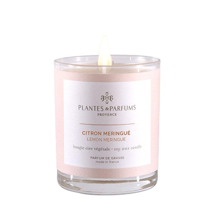 Bougie végétale parfumée | Citron Meringué |Plantes & Parfums Provence | 180g